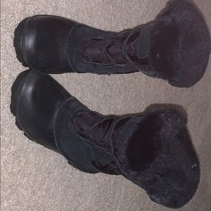 All black snow boots